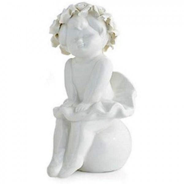 HERVIT Ballerina in porcellana bianca