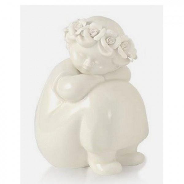 HERVIT Bimbo in porcellana bianca