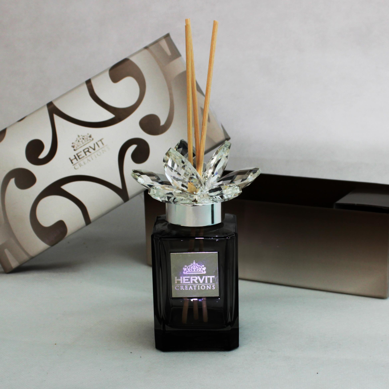 Profumatore Hervit con fiore in cristallo e scatola