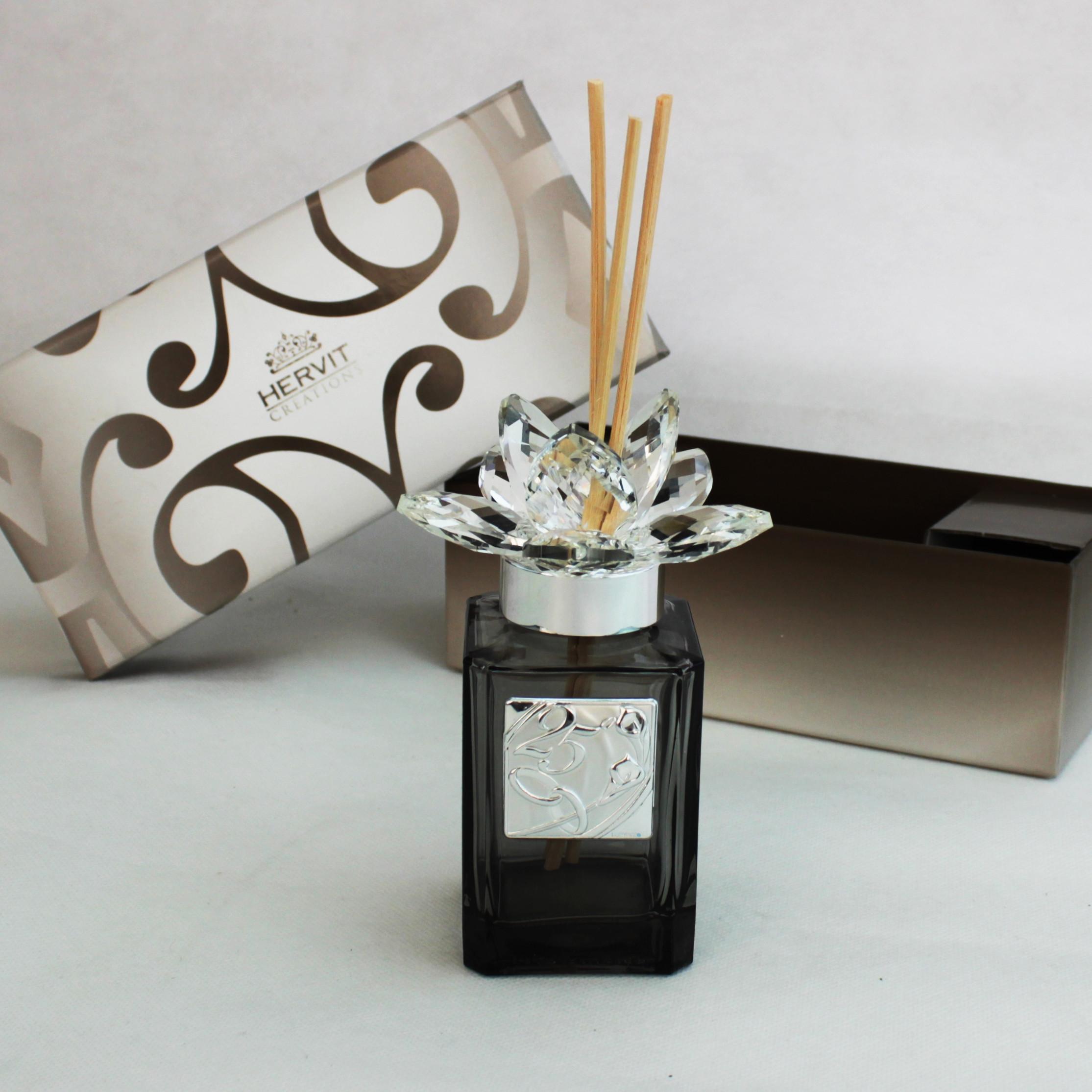 Profumatore Hervit con fiore in cristallo 25° anniversario matrimonio