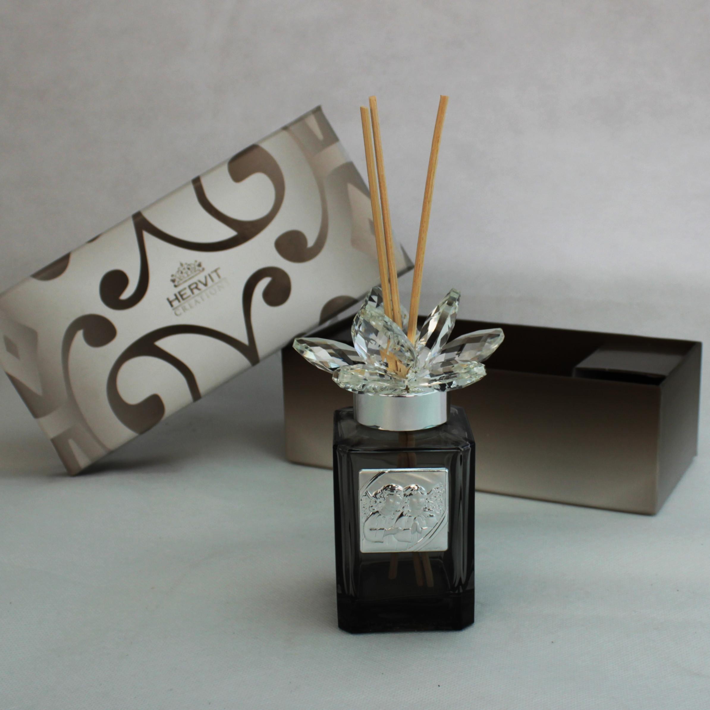 Profumatore Hervit con fiore in cristallo Angeli Puttini