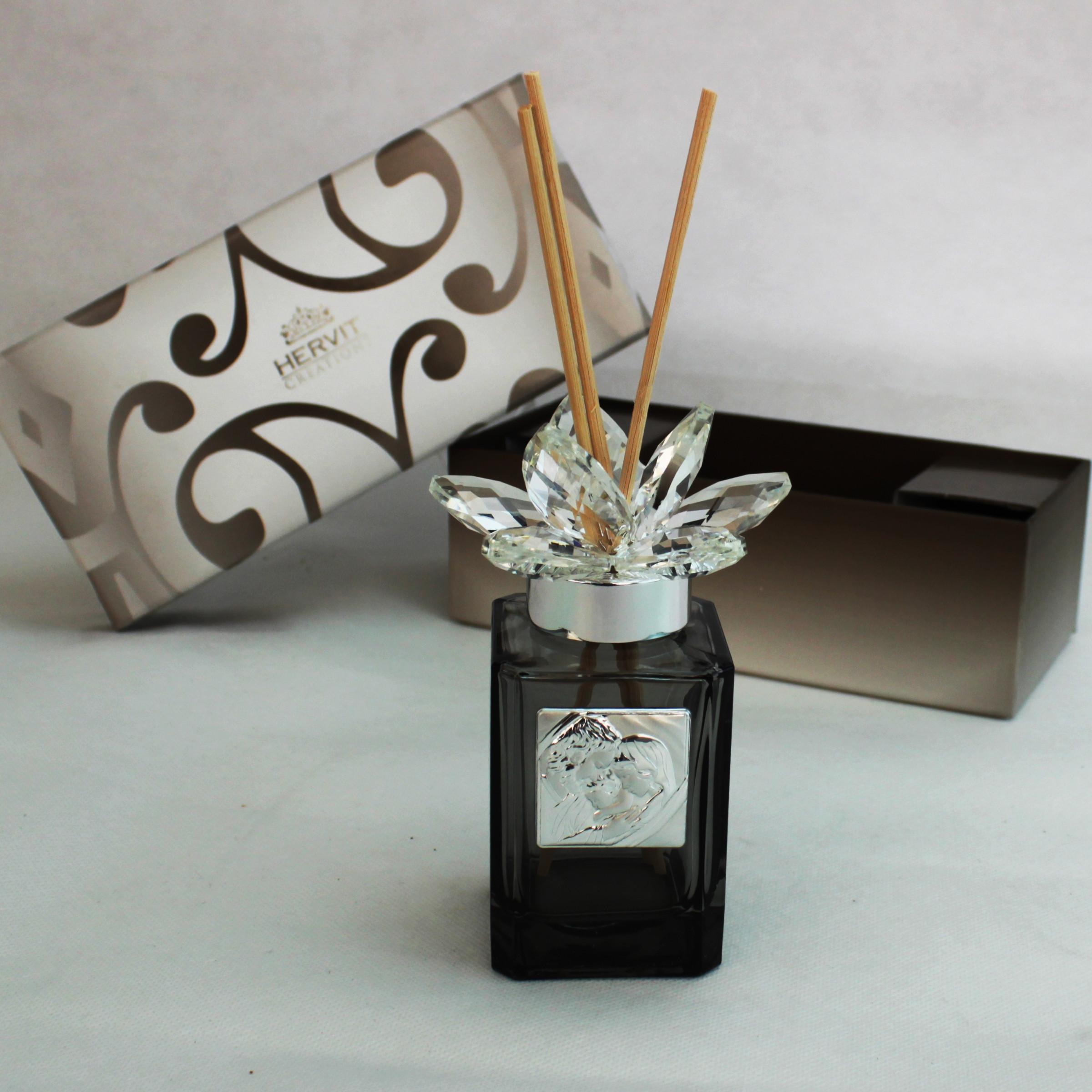 Profumatore Hervit con fiore in cristallo Sacra Famiglia