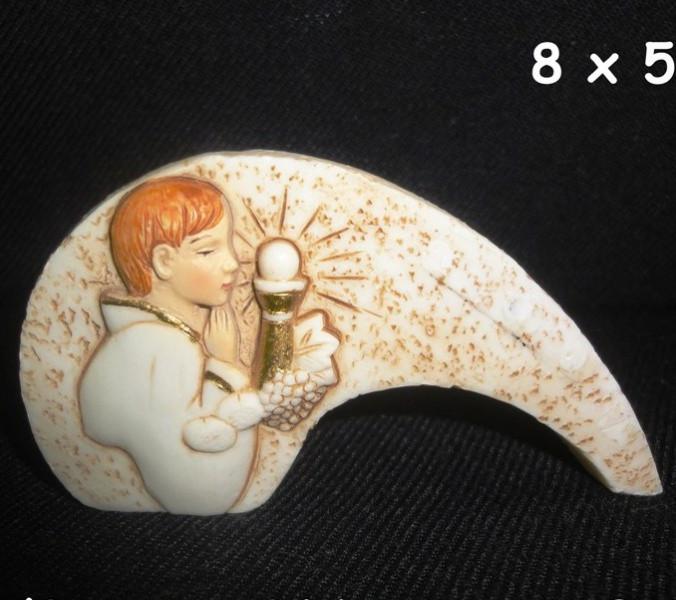 Icona bimbo comunione in resina cm 8