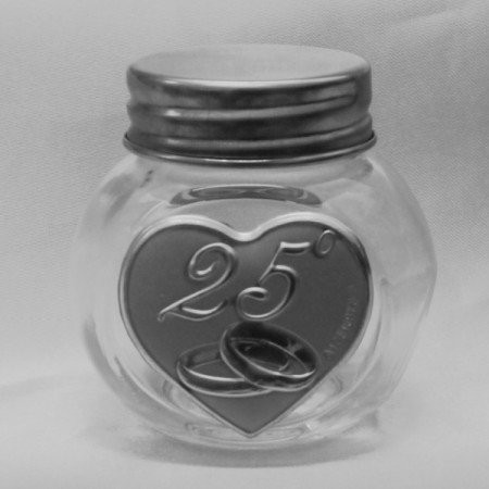 Barattolo in vetro 25 Anniversario di Matrimonio