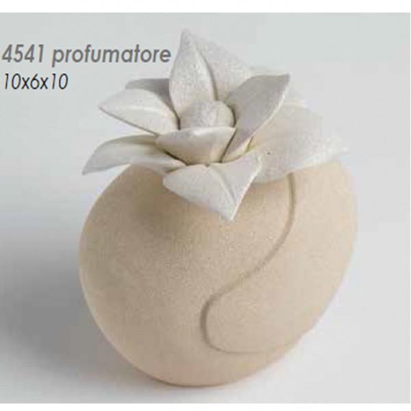 Profumatore con fiore in ceramica