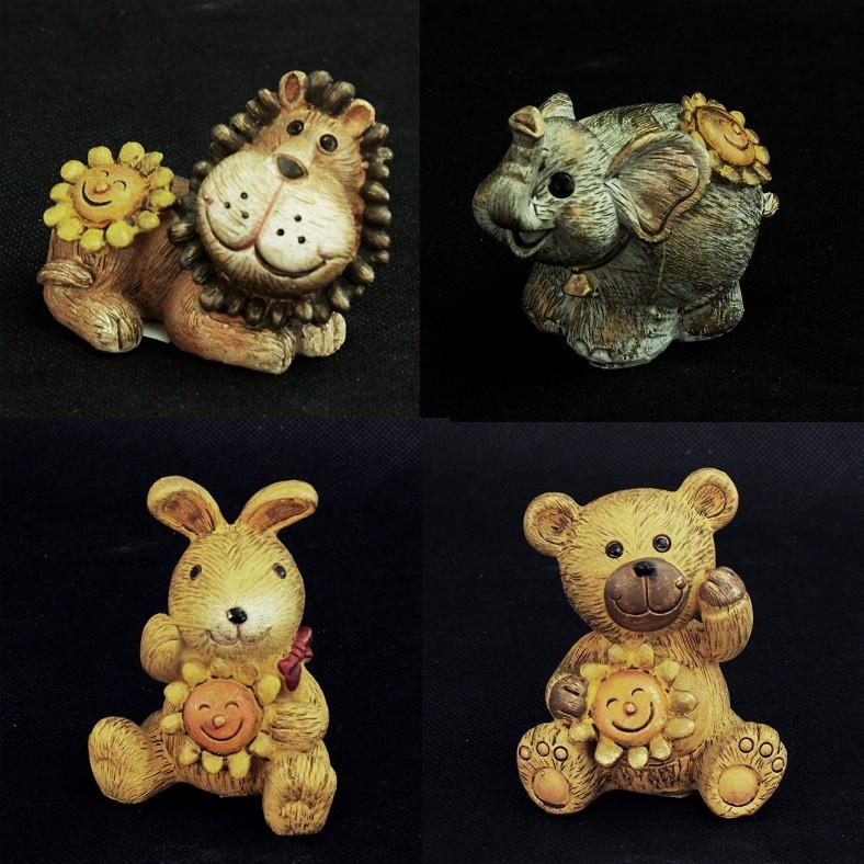 Animali cm 7x6 vari soggetti, in resina