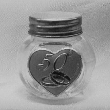 Barattolo in vetro 50 Anniversario di Matrimonio