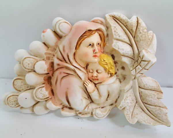 Icona con Madonna e grappolo d'uva