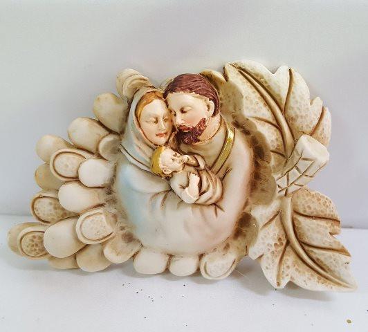 Icona con Sacra Famiglia e grappolo d'uva