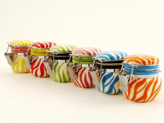12 Barattoli in ceramica colori assortiti OFFERTA STOCK
