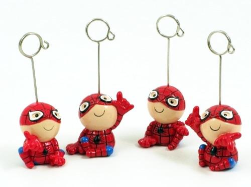 Pupazzetti memo clip uomo ragno in resina (24 pezzi)