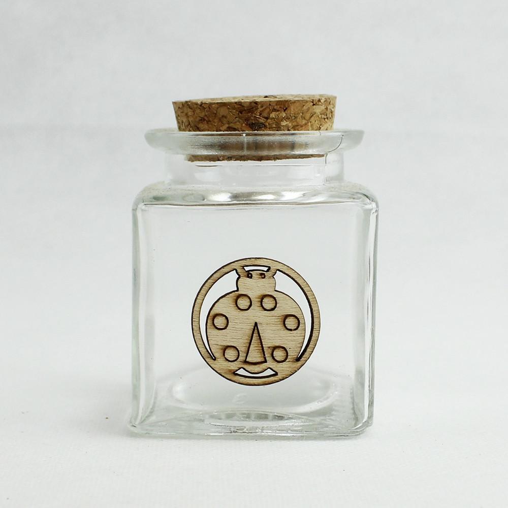 Barattolo in Vetro con Coccinella Portafortuna Segnaposto Confettata
