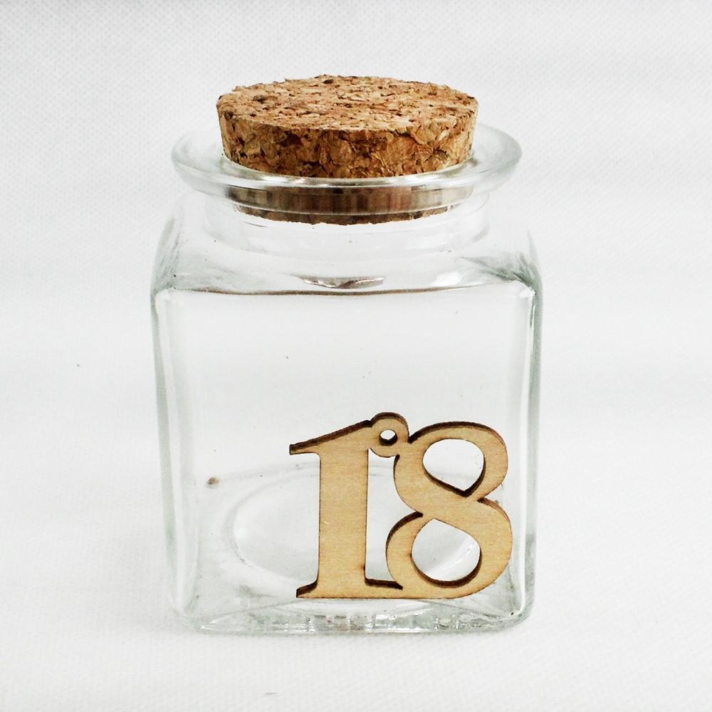 Barattolo in Vetro per 18 Diciottesimo Compleanno Confettata Segnaposto