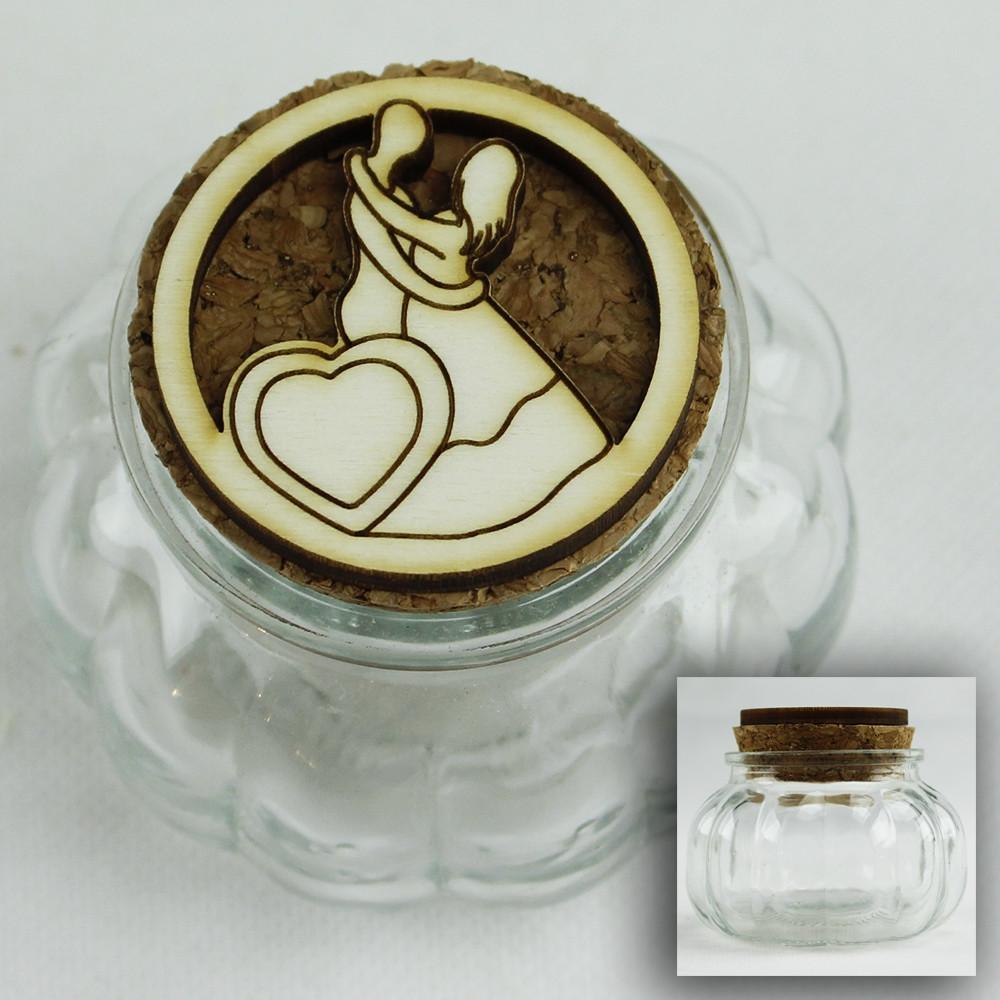 Segnaposto Matrimonio Vetro.Dlm Barattolo In Vetro Porta Confetti Confettata Segnaposto
