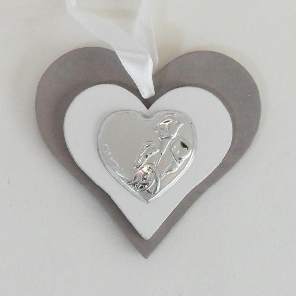 Icona cuore in legno per matrimonio completa di scatola