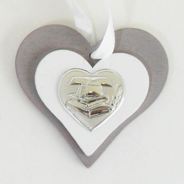 Icona cuore in legno per laurea