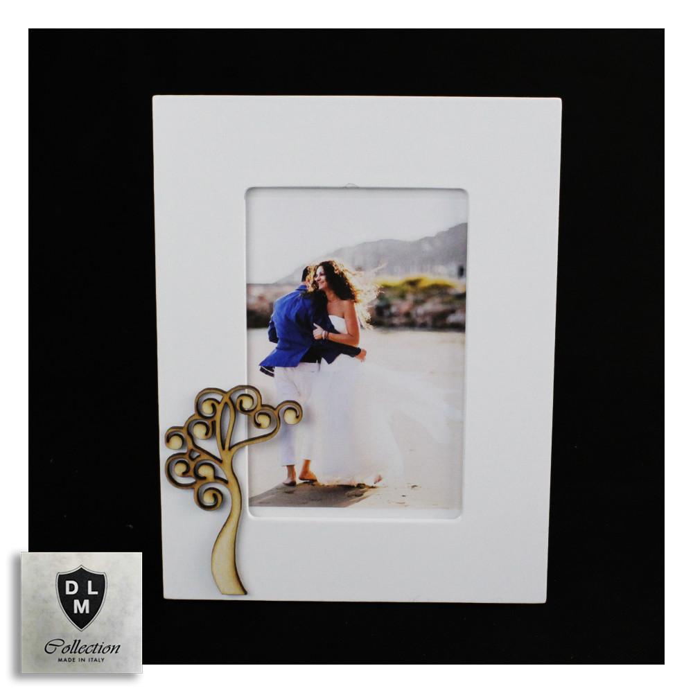 Bomboniera Portafoto Cornice con Albero della Vita Life Tree in legno Shabby Chic Quadretto