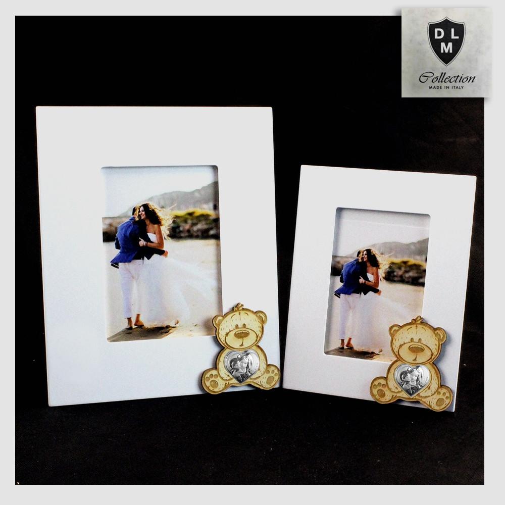 Bomboniera battesimo nascita portafoto clip  bimbo orso orsetto
