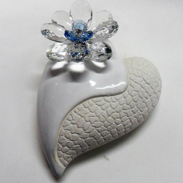 Variazione #17931 di Profumatore cuore grande e fiore in cristallo