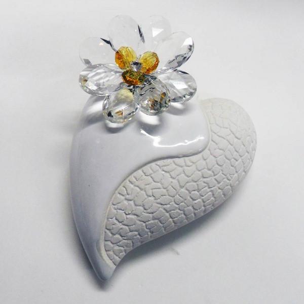 Variazione #17930 di Profumatore cuore grande e fiore in cristallo