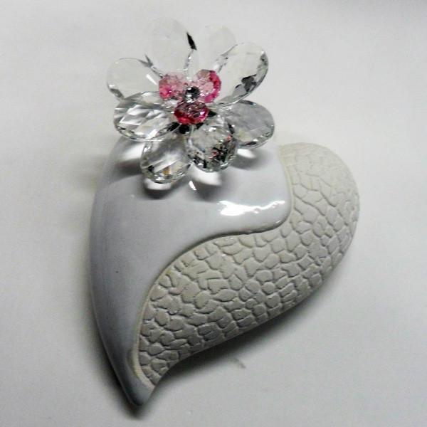 Variazione #17932 di Profumatore cuore grande e fiore in cristallo