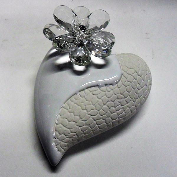 Variazione #17933 di Profumatore cuore grande e fiore in cristallo