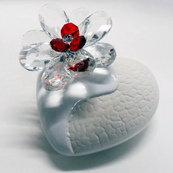 Variazione #17906 di Profumatore cuore e fiore in cristallo