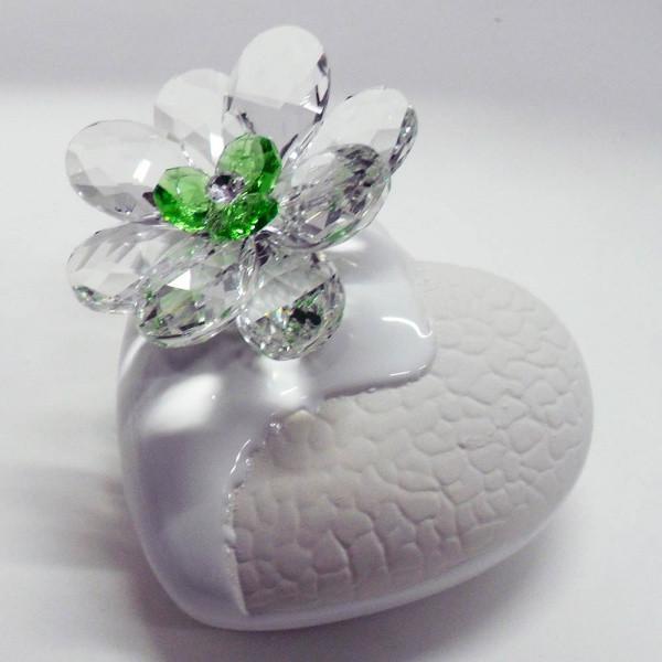 Variazione #17908 di Profumatore cuore e fiore in cristallo