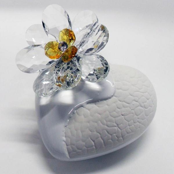 Variazione #17907 di Profumatore cuore e fiore in cristallo