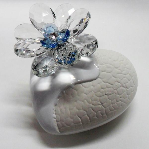 Profumatore cuore e fiore in cristallo