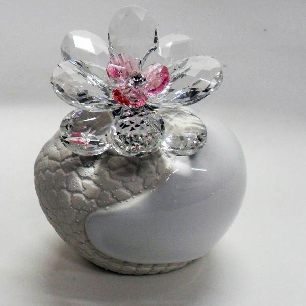 Variazione #17887 di Profumatore con fiore in cristallo e punto luce