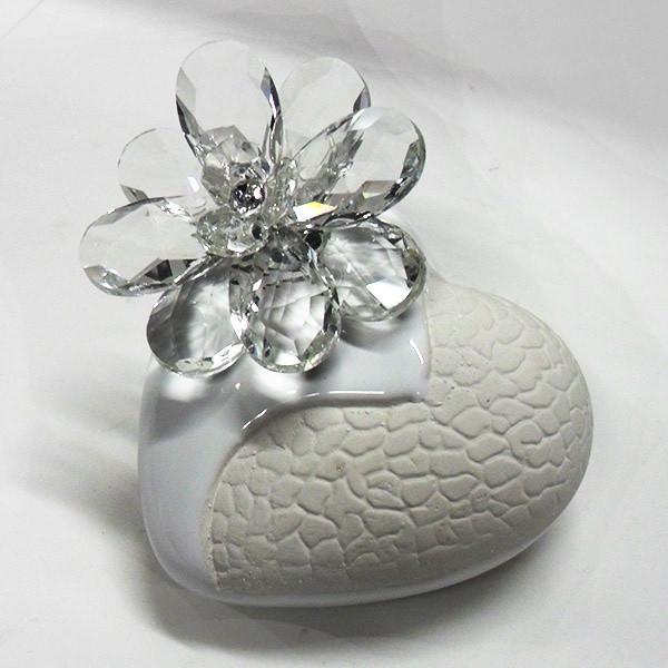 Variazione #17911 di Profumatore cuore e fiore in cristallo