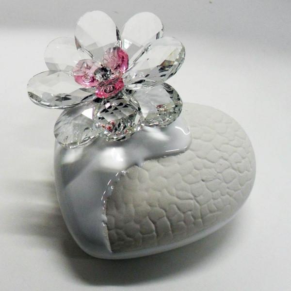 Variazione #17909 di Profumatore cuore e fiore in cristallo