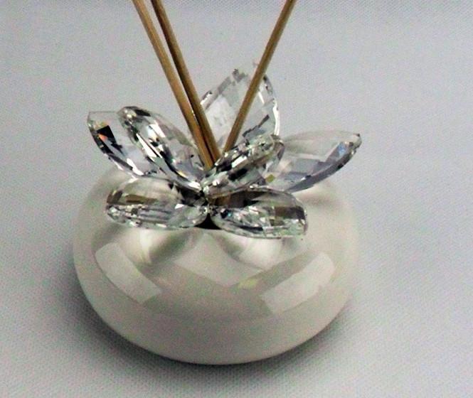 Profumatore con fiore in cristallo completo di scatola