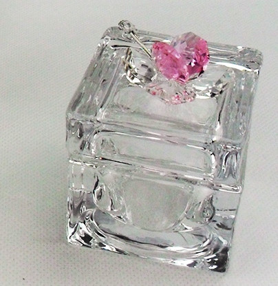 Scatola portagioie con farfalla in cristallo vari colori