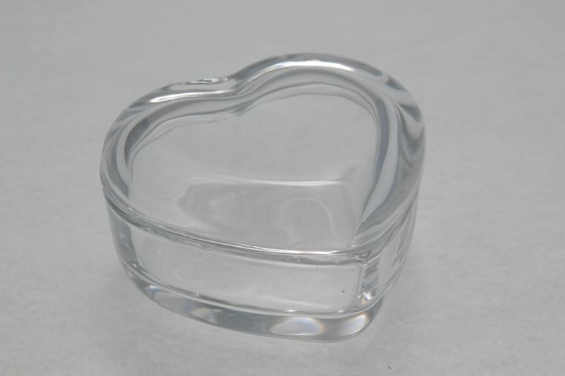 Scatola portagioie a cuore in vetro (kit 12 pezzi)