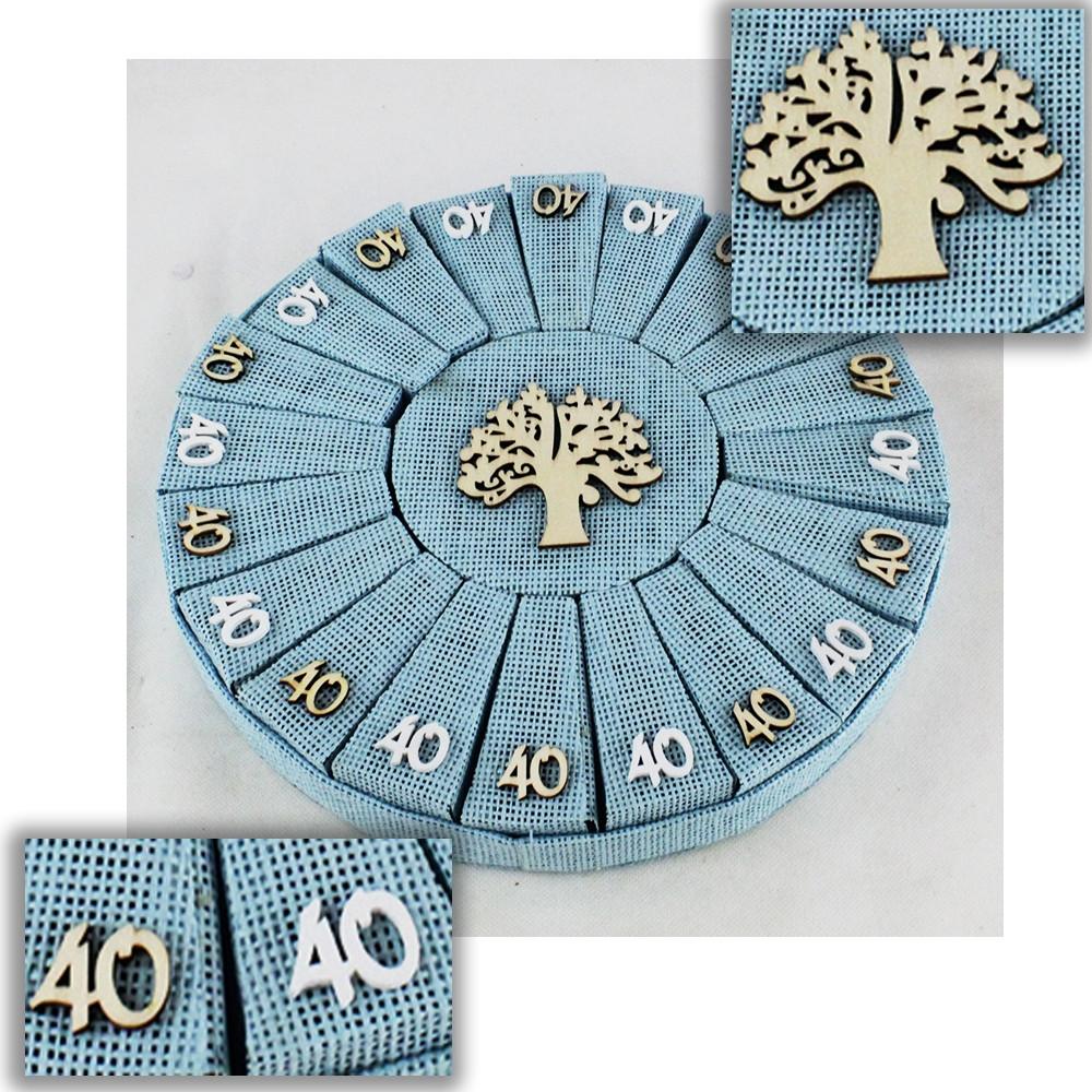 Preferenza DLM - Bomboniere a Torta Azzurro Albero della Vita 40 Compleanno IF26