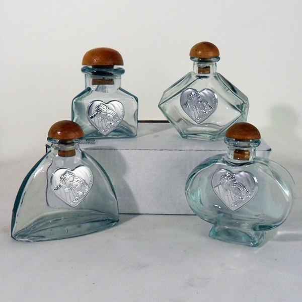 Barattoli in vetro con Sacra Famiglia completi di scatola