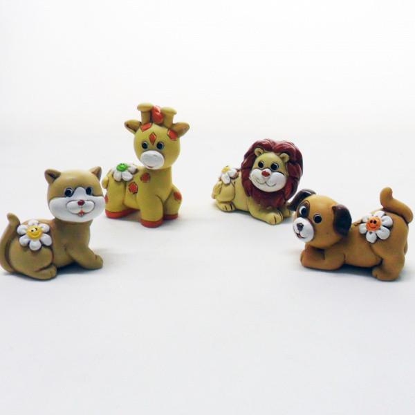 Animali soggetti assortiti, realizzati in resina