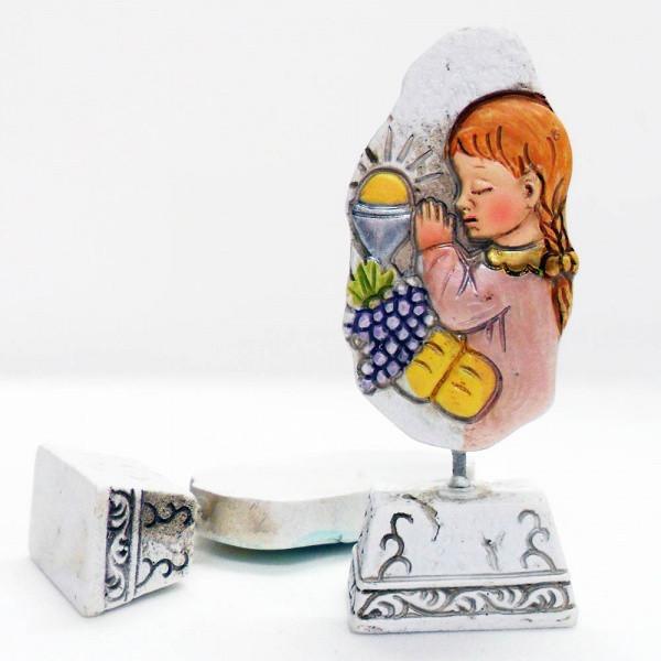 Icona in resina comunione bimba