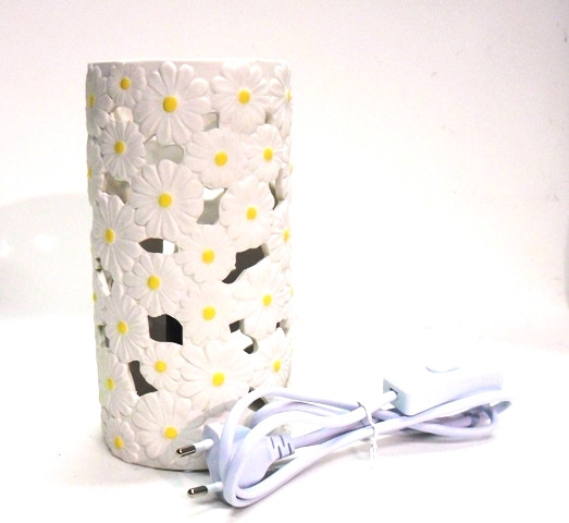 LAMPADA , ceramica decoro margherite