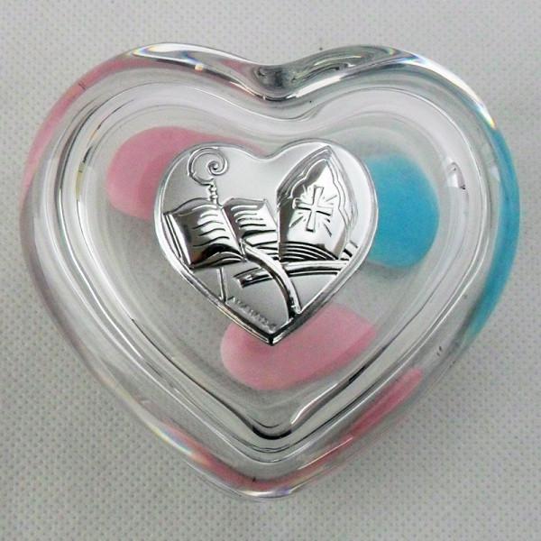 Scatola portagioie a cuore per cresima (kit 6 pezzi)