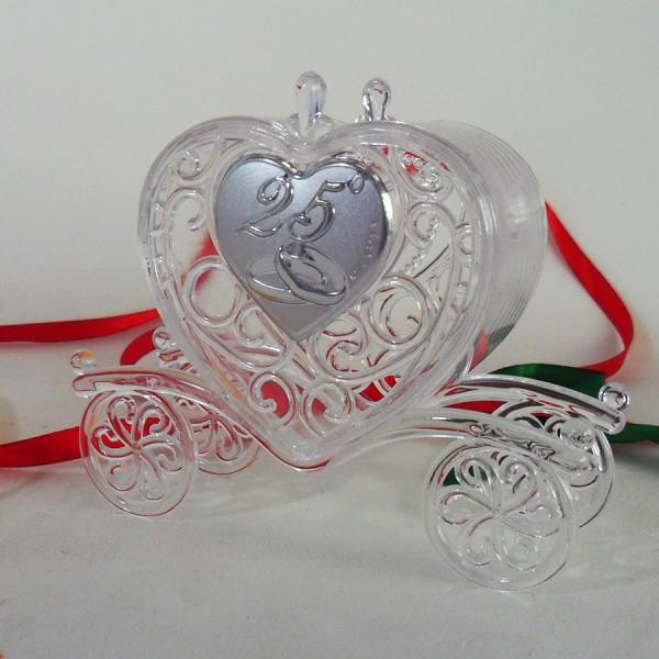 Xxv Anniversario Di Matrimonio.Scatolina Carrozza Per 25 Anniversario Di Matrimonio