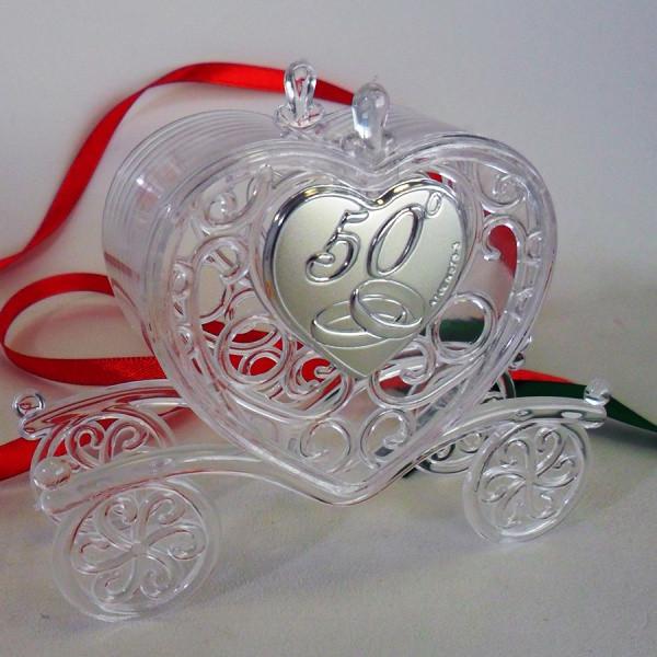 Scatolina carrozza per 50° anniversario di matrimonio