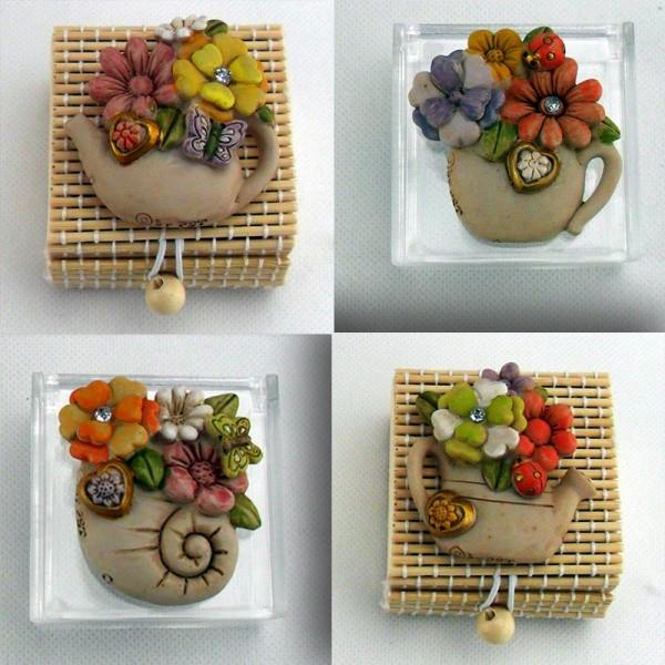 Scatolina con calamita fiori