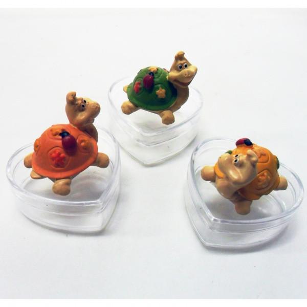 Scatoline con tartarughe portafortuna in resina