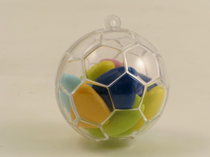 Scatolina pallone da calcio in plastica rigida