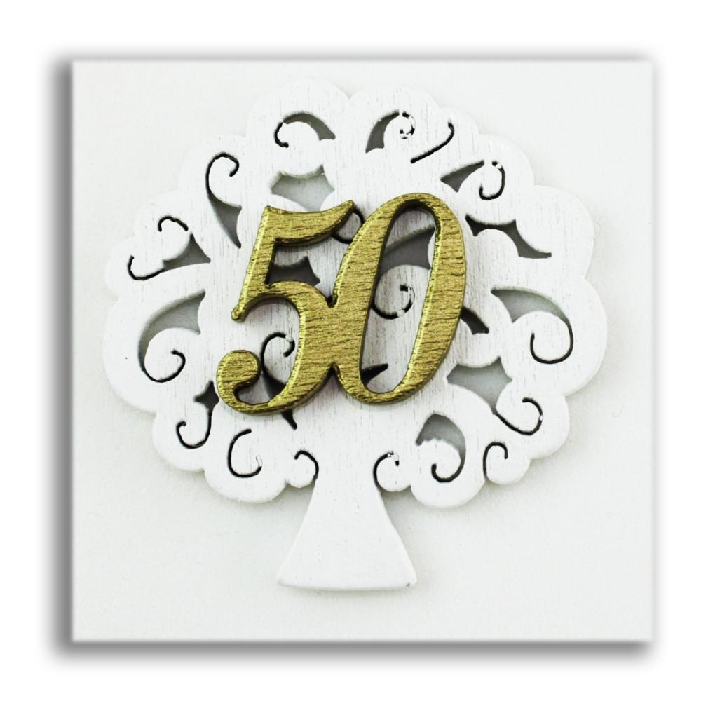 Segnaposto Matrimonio 50 Anni.Dlm Calamita Magnete Albero Della Vita Nozze 50 Anniversario In