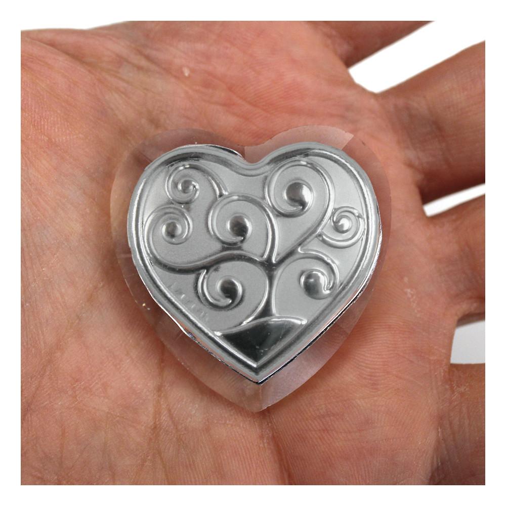 Calamita Magnete in Cristallo Cuore con Albero della Vita Segnaposto Pensierino Confettata