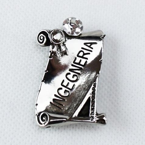 Calamita Magnete Pergamena Laurea in Ingegneria metallo argentato